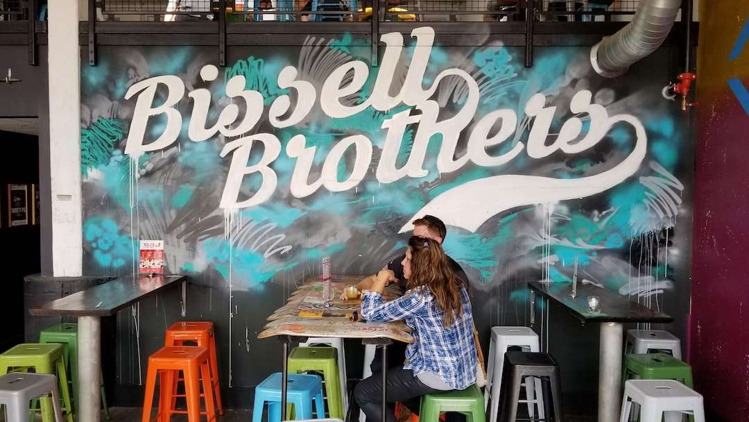 Bissell Brothers graffiti sign