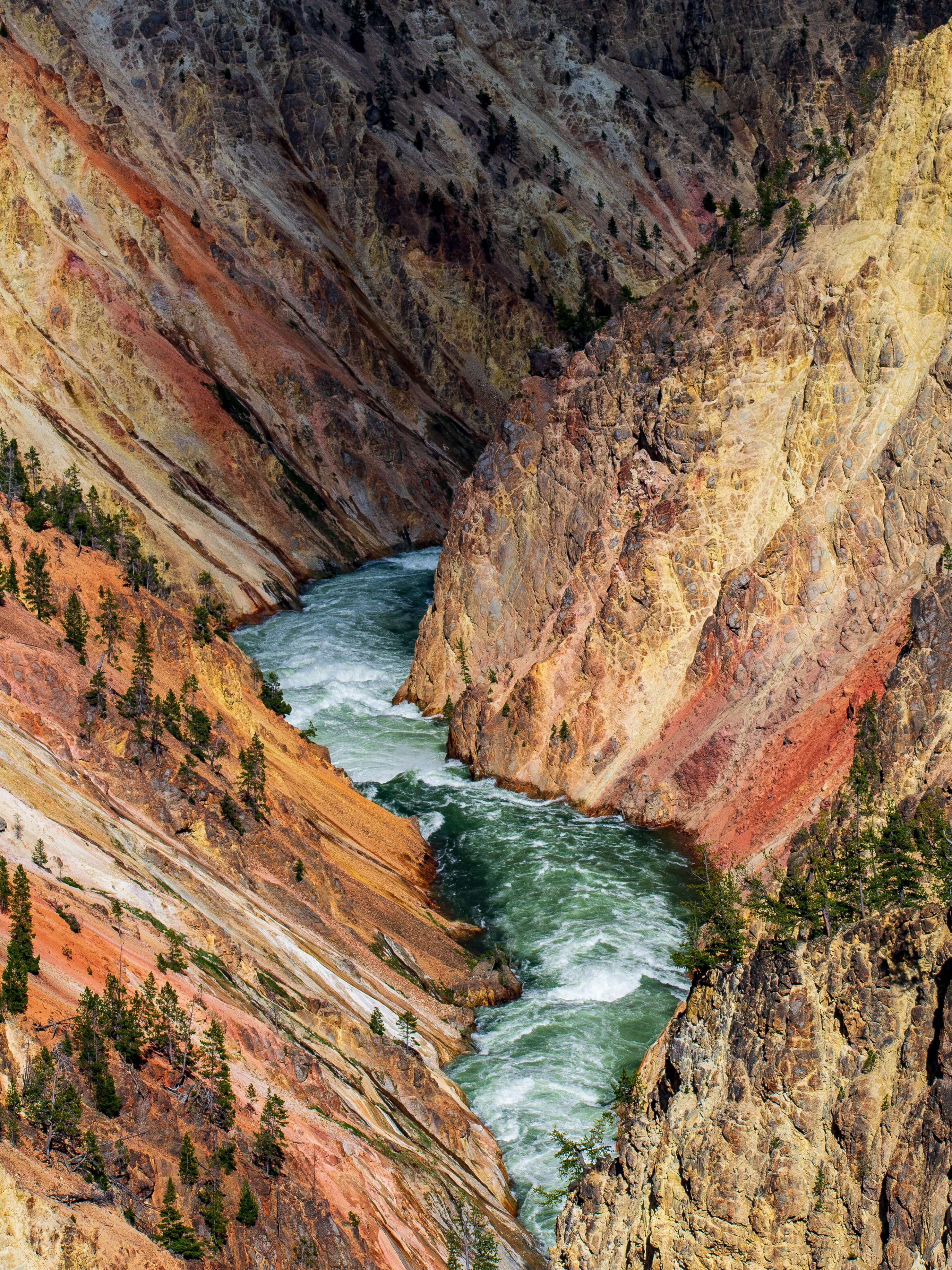 The Grand Canyon of Yellowstone with Yellowstone River