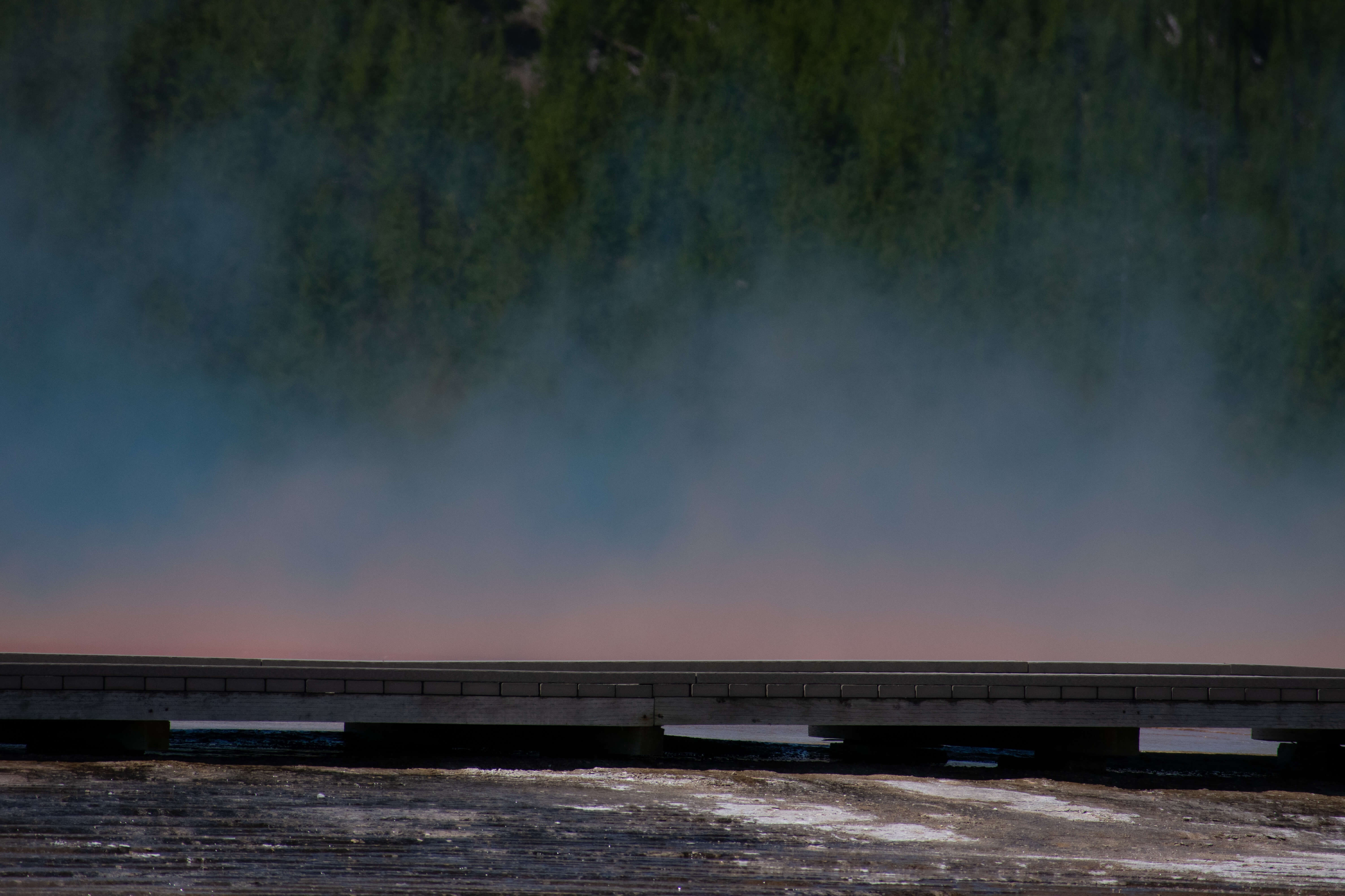 Boardwalk and Grand Prismatic Spring Yellowstone