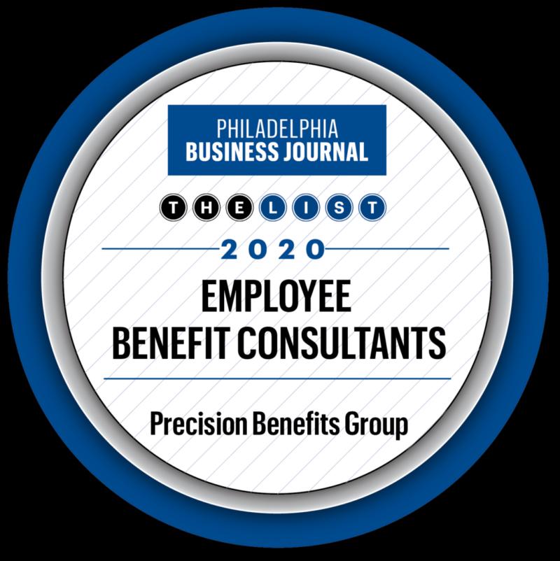 Precision Benefits Group Philadelphia Business Journal Book of List 2021 Employee Benefit Consultants