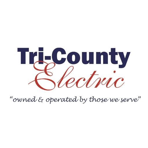 "Tri-County Electric Site Logo Tri-County Electric ""owned and operated by those we serve"""
