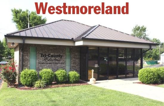 Photo of the front of the Tri-County Electric Westmoreland Office