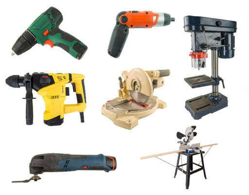 group of power tools