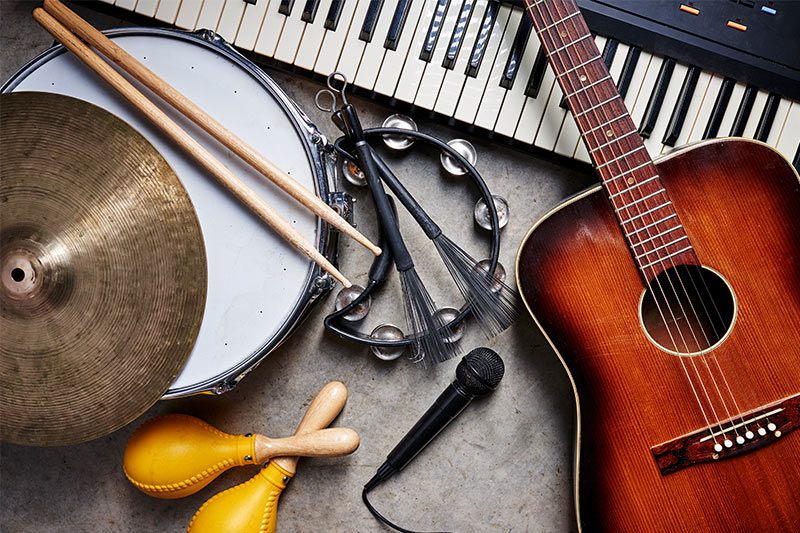 Musical Instruments in a group