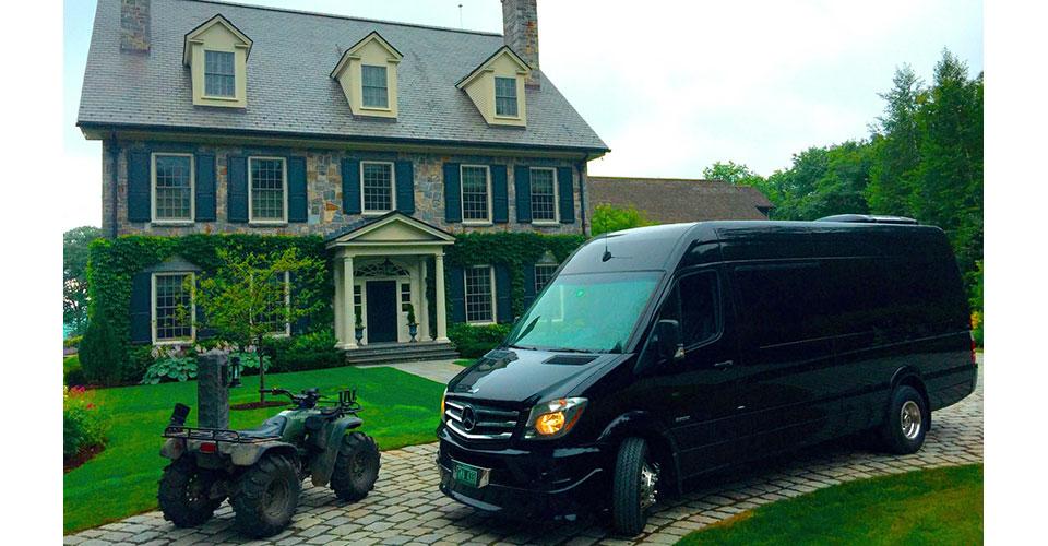 chauffered limo van
