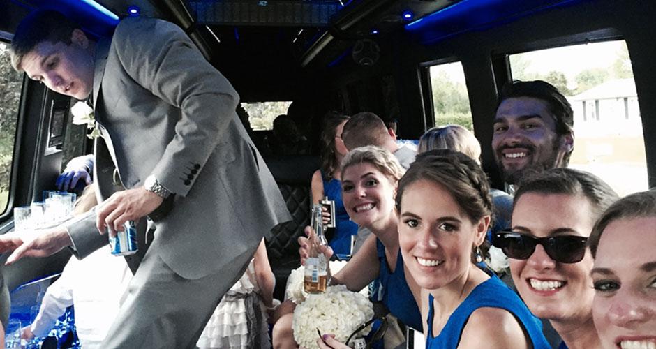 vermont wedding limo van