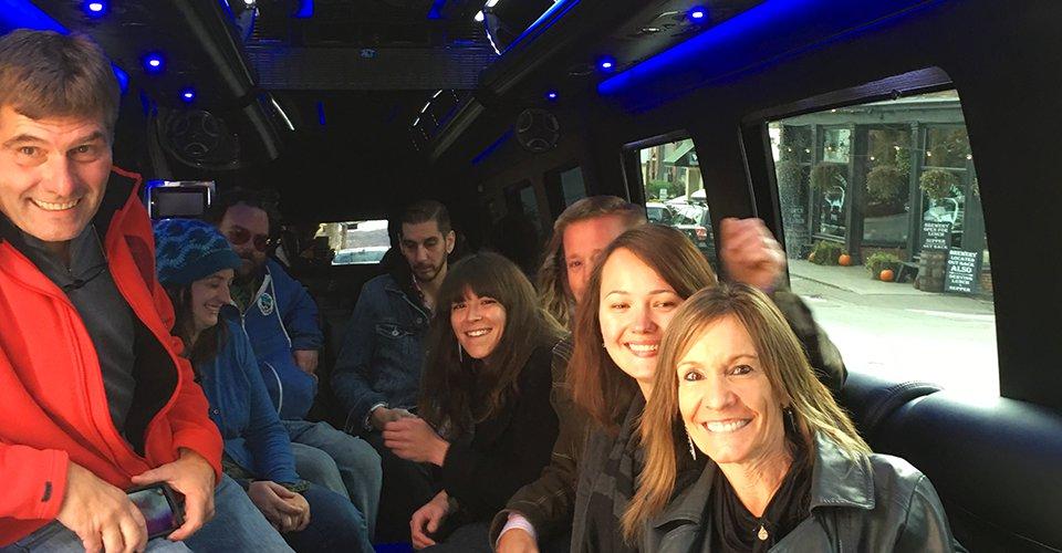 limo van vermont winery tour