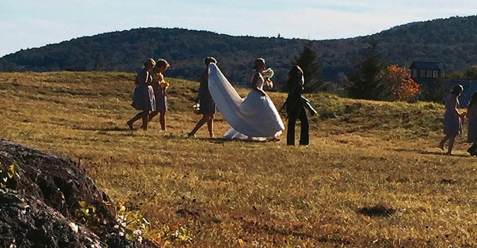 vermont country wedding limo