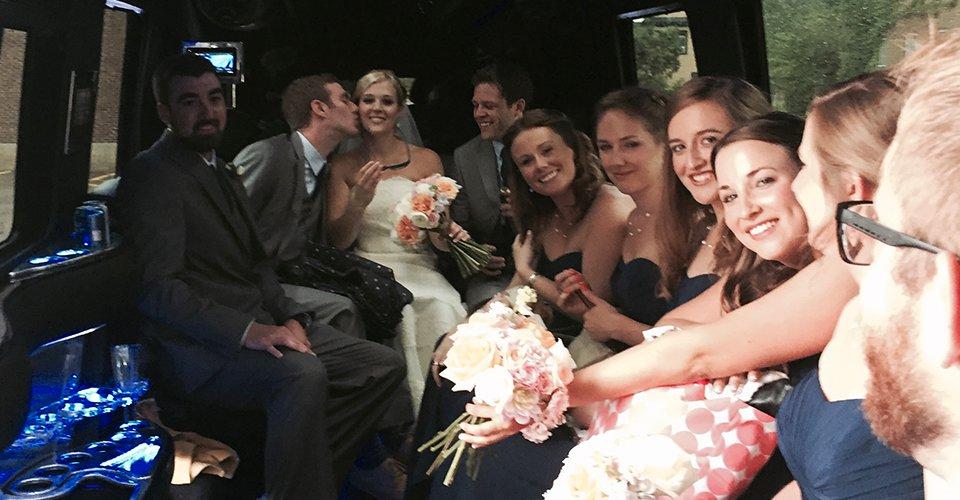 vt wedding chauffeured limo van
