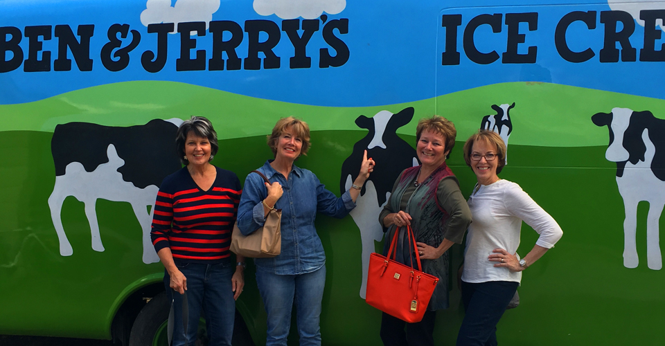 Stowe VT Ben & Jerrys limo