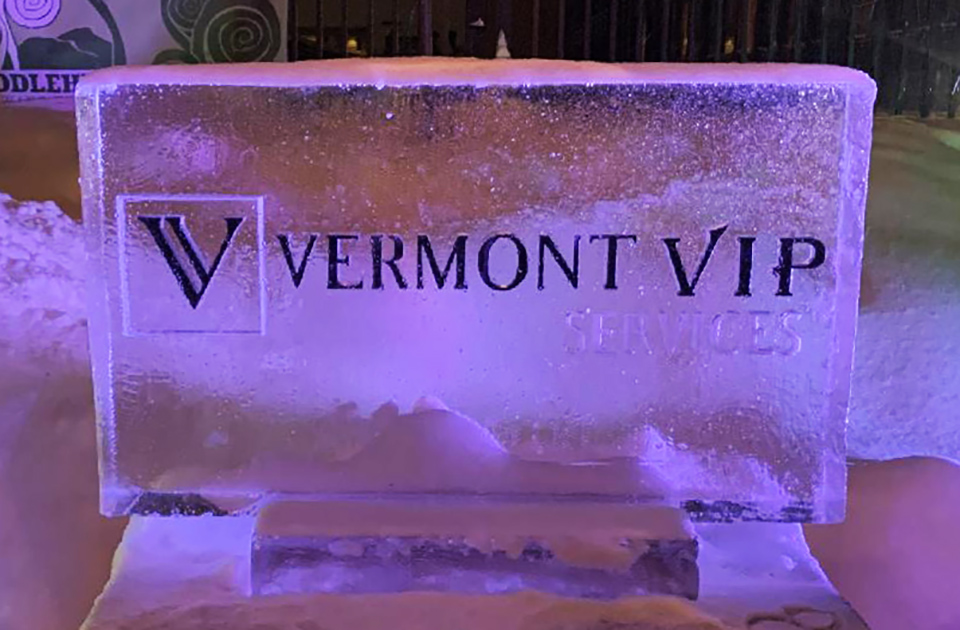 VT VIP Limo Services ice sculpture