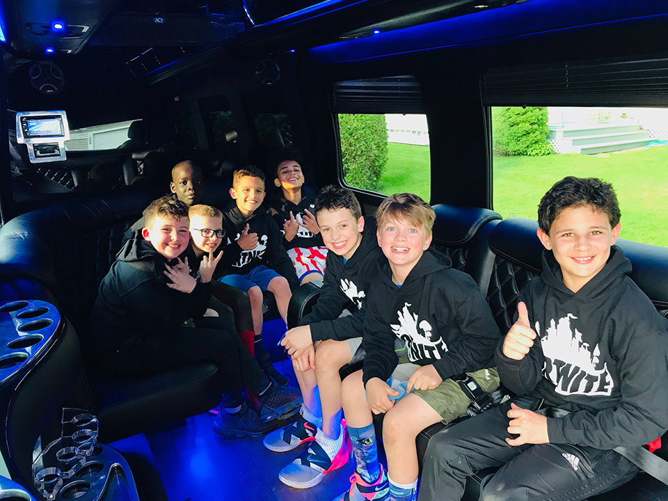 kids party bus limo