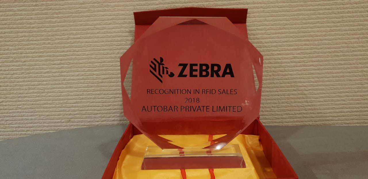 Autobar wins the BEST PARTNER award for Zebra's RFID product line
