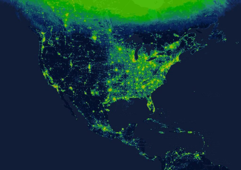 New interactive map shows how light pollution affects your hometown.