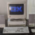 Old Computer With IBM Logo On Screen