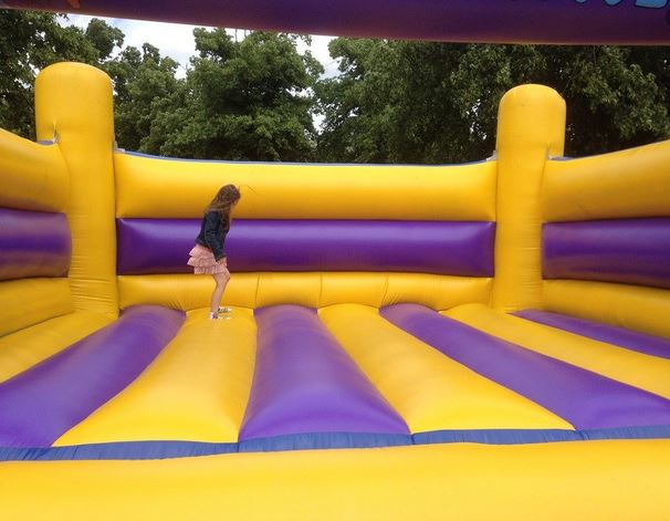 Purple And Yellow Bouncy Castle