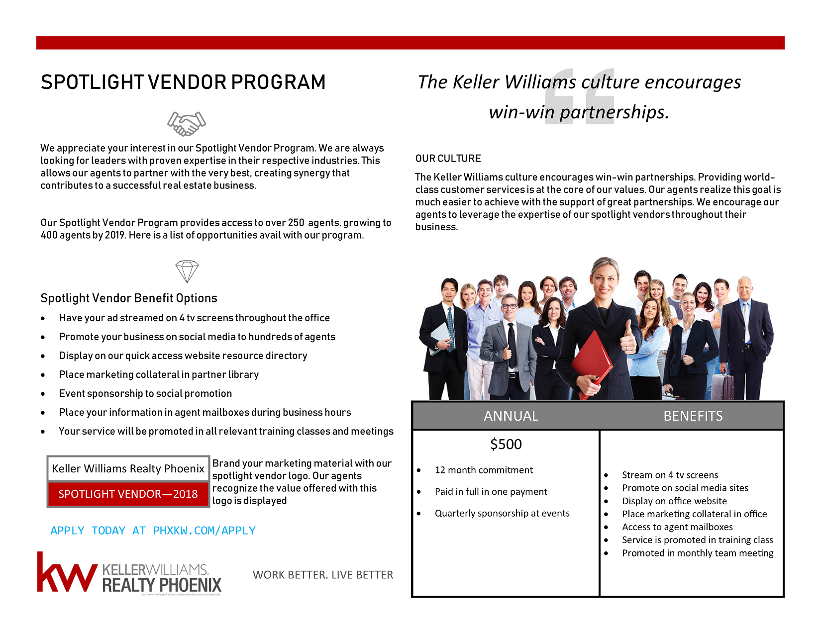 Spotlight Vendor Program