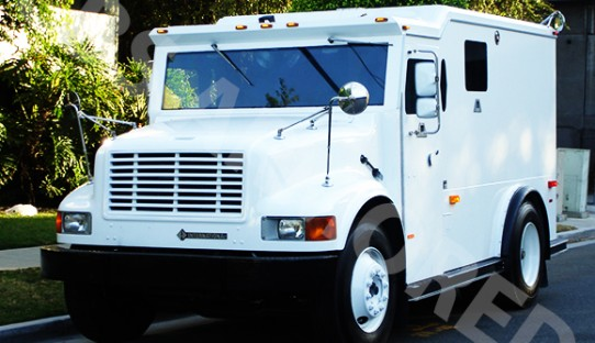 2001 Refurbished International 4700 DT 466 Armored Truck