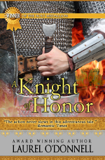 Medieval romance book cover for A Knight of Honor