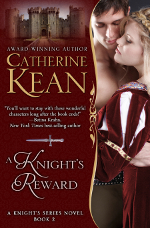 Medieval romance novel cover for A Knight's Reward by Catherine Kean