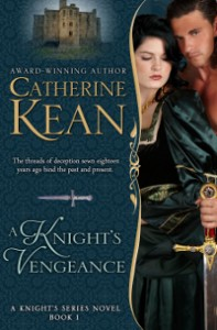 Medieval romance novel cover for A Knight's Vengeance by Catherine Kean