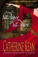 Medieval romance novel cover for Dance of Desire by Catherine Kean