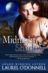 romance novel cover for medieval historical romance novel Midnight Shadow by Laurel O'Donnell