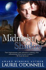 Medieval romance book cover for Midnight Shadow