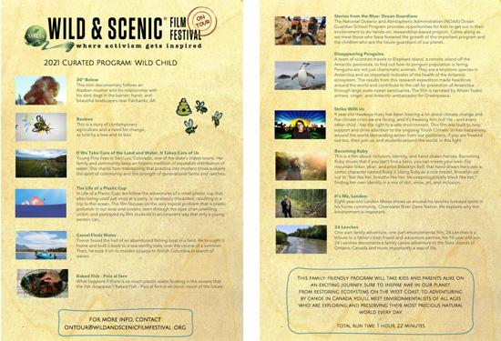Wild & Scenic Film Festival 2021 program