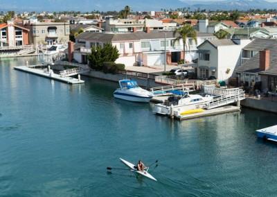 Rowing Channels Islands Harbor