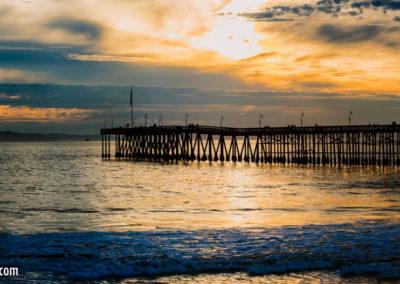 Ventura Pier eastside sunset pano-1