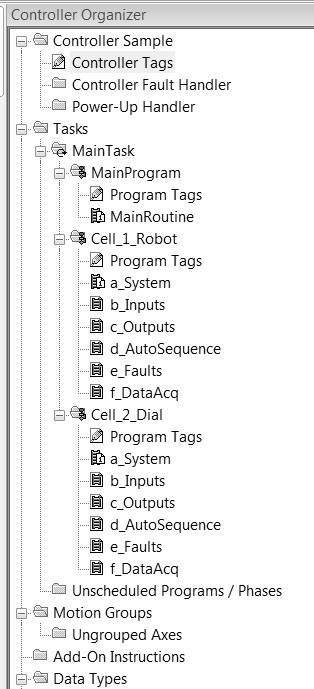 sample plc sequences at cell level