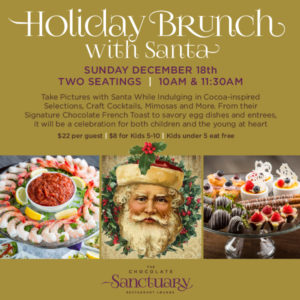 Holiday Brunch with Santa on Sunday December 18