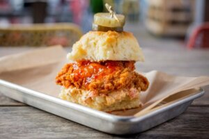 Honey Butter Fried Chicken Partners with Bang Bang Pie and Biscuit for Clucker Collaboration