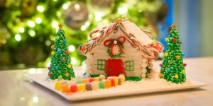 Aster Hall Gingerbread house