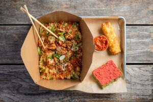 Fried Chicken Fried Rice | Honey Butter Fried Chicken