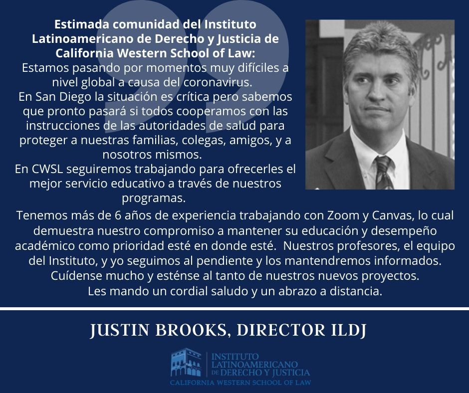 Comunicado Justin Brooks