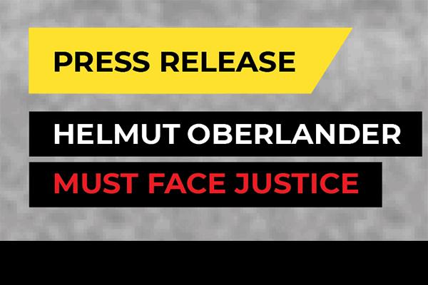 Press Release: Oberlander Must Face Justice