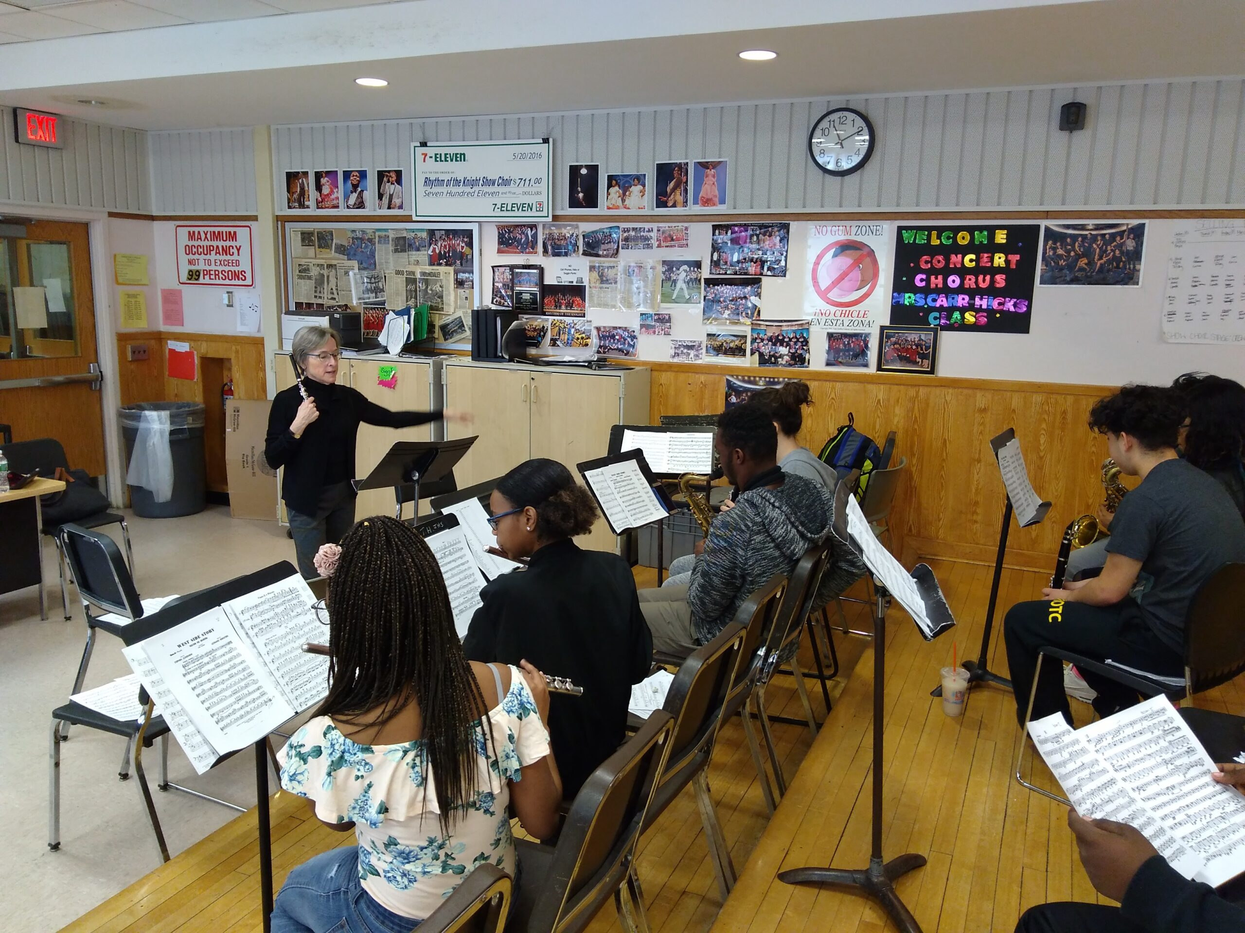 conducting woodwind students