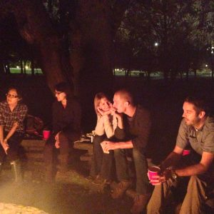 Palmer Lab bonfire 2012