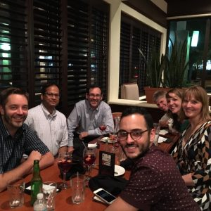 Abe, friends, and sangria -- ACNP Dec 2016