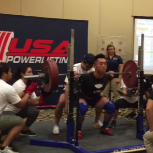 Dr. Yu-yu Ren breaking records in weight-lifting!