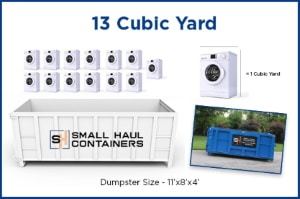 13 Cubic Yard Container