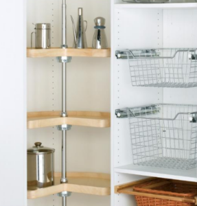 Wood Walk-in Pantry Cabinet Lazy Susan