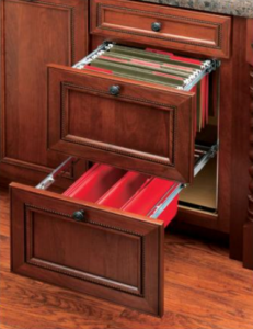 Two-Tier File Drawer System