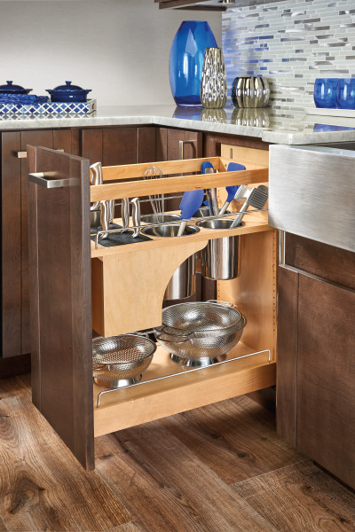 Base Cabinet Organizer w/ Knife Block