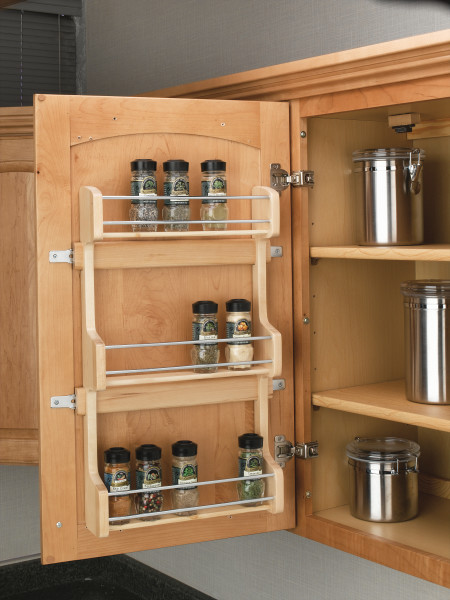 Cabinet Door Mount Shelf Spice Rack