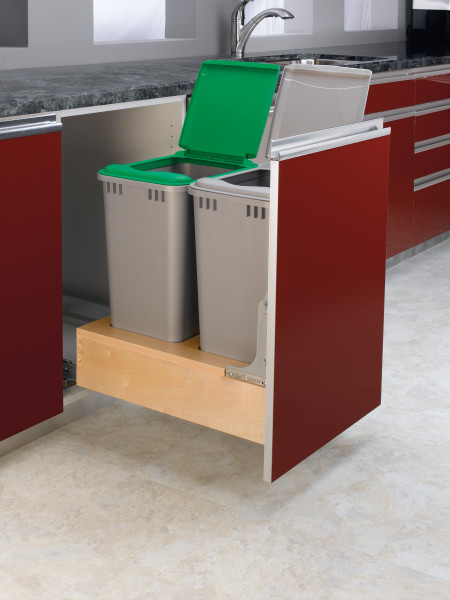 Double 50 Qrt Pull-Out Waste Container