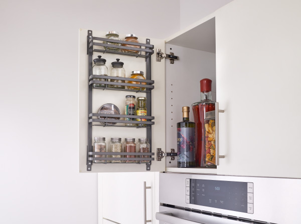 Metal Door Mount Spice Rack