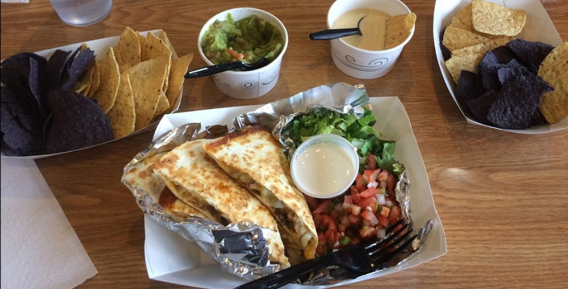 Quesadilla, Con Queso and Nachos at N. Olmsted Mexican Restaurant